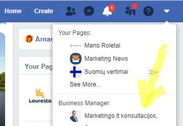 facebook business account kaip prideti vartotoja